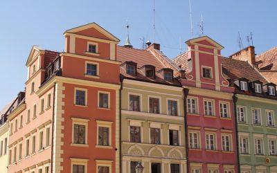 Zabytkowe kamienice na wrocławskim rynku